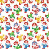 Colorful clowns circus pattern Royalty Free Stock Image