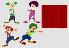 Colorful Clowns Icons Royalty Free Stock Image