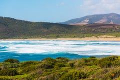 Colorful coast in Porto Ferro beach Royalty Free Stock Photo