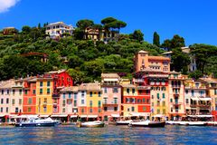 Colorful coastal Italian town Stock Photo