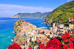 Colorful coastal Italian town Stock Photography