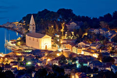 Colorful coastal town of Veli Losinj. By Adriatic sea of Croatia Royalty Free Stock Image