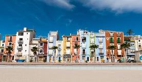 Colorful coastal village Royalty Free Stock Image