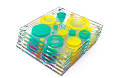 Colorful coasters for glass Royalty Free Stock Photography