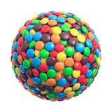 Colorful coated chocolate candies in the shape of a sphere. 3d rendering vector illustration