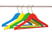 Colorful coats hanger Stock Photography