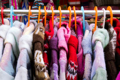 Colorful coats Royalty Free Stock Images