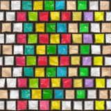 Colorful cobble stone pattern Royalty Free Stock Photo