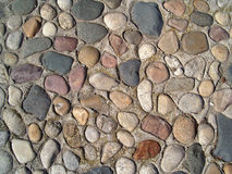 Colorful cobblestone. Flooring in a park stock photos