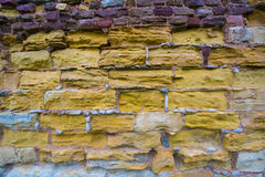 Colorful Cobblestone Brick Walll Royalty Free Stock Photography
