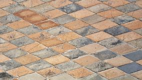 Colorful cobblestone road pavement, background photo texture Royalty Free Stock Photography