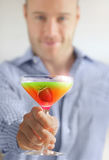 Colorful cocktail drink Royalty Free Stock Images