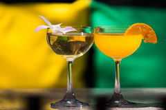 Colorful cocktail drinks royalty free stock photo