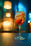 Colorful cocktail in glass with orange and lemon Royalty Free Stock Image