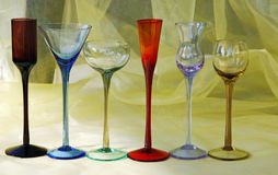 Colorful cocktail glasses Royalty Free Stock Photography