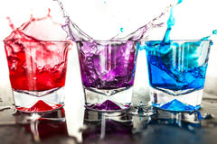Colorful cocktail glasses Royalty Free Stock Photo
