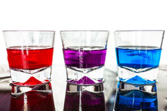 Colorful cocktail glasses Royalty Free Stock Images