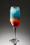 Colorful cocktail on a gradient Stock Images