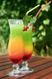 Colorful cocktail outside Royalty Free Stock Photography