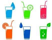 Colorful cocktail set Stock Images