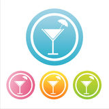 Colorful Cocktail Signs Stock Photo