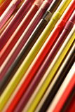 Colorful cocktail straws Royalty Free Stock Images