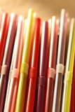 Colorful cocktail straws Stock Images