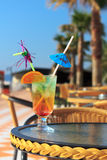 Colorful cocktail with umbrella Royalty Free Stock Images