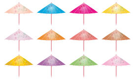 Colorful cocktail umbrella Stock Image