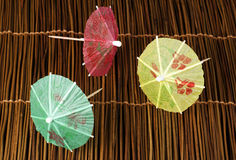 Colorful cocktail umbrellas Royalty Free Stock Photo