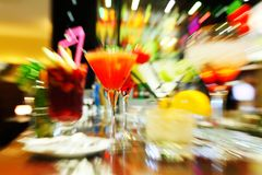 Colorful cocktails Royalty Free Stock Image