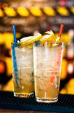 Colorful cocktails drinks served in a nightclub Royalty Free Stock Photo