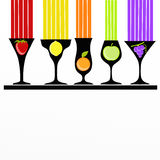 Colorful cocktails and fruit Royalty Free Stock Photography