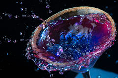 Colorful cocktails molecular. Alcohol bar blend Royalty Free Stock Photos