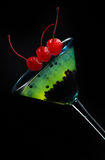 Colorful cocktails molecular. Alcohol bar blend Stock Images