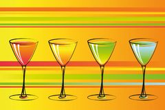 Colorful cocktails party background stock illustration