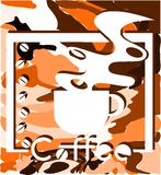 Colorful Coffee background with cup Royalty Free Stock Photo