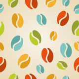 Colorful coffee beans seamless pattern illustration Stock Photography