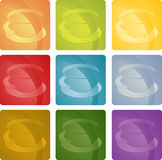 Colorful coffee beverage icon Royalty Free Stock Photo