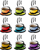 Colorful coffee beverage icon vector illustration