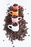 Colorful coffee cup Royalty Free Stock Photo