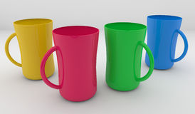 Colorful Coffee Cup Stock Photography