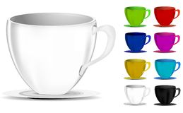 Colorful coffee cups Royalty Free Stock Photos