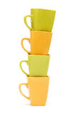 Colorful coffee cups Royalty Free Stock Photography
