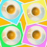 Colorful coffee cups Stock Photography