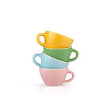 Colorful coffee cups Royalty Free Stock Image