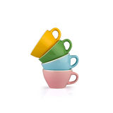 Colorful coffee cups Stock Images