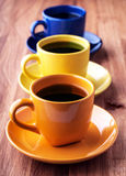 Colorful coffee cups. Royalty Free Stock Image