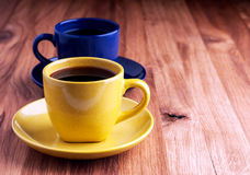 Colorful coffee cups. Stock Image