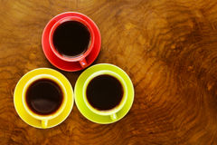 Colorful coffee cups Stock Photo